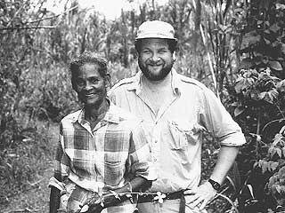 Michael Balick (r.) with Hortense Robinson, a traditional healer from Belize. Photo courtesy of Gregory Shropshire/IX Chel Tropical Research Foundation.