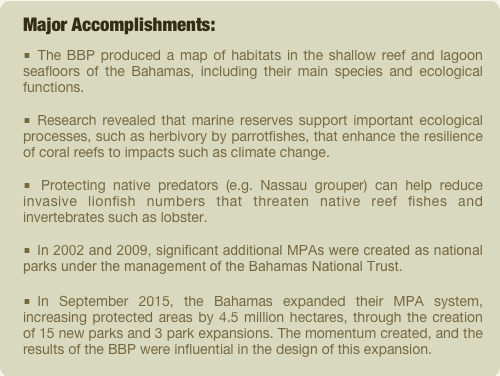 BBP accomplishments