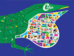 The Cuba exhibition promotion graphic