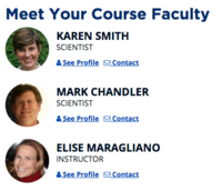 course faculty and scientist photos, profiles, and contact info