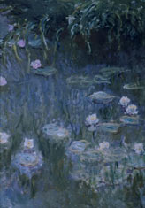 Claude Monet: Waterlilies. Oil on canvas. The Granger Collection, New York