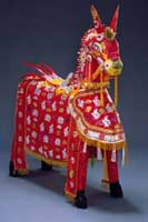 Votive horse. Paper, bamboo. Kinh people; Tien Tuong Truc village, Hanoi; 2001 AMNH / C. Chesek