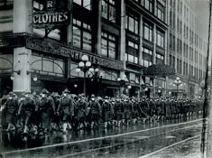 U.S. Army soldiers in Seattle Courtesy of U.S. National Archives