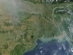 Ganges River Delta from space NASA