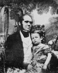 Darwin and son William, 1842 ©AMNH Special Collections