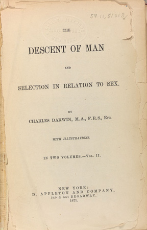 Darwin's Descent of Man (1871) ©AMNH Library