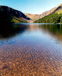 Only 3 percent of the Earth's water is fresh-and less than one-third of that is in a form or a location that makes it readily available for human consumption, such as the lakes at Glendalough in Ireland. © Craig Chesek