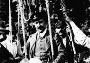 Cosmic-ray pioneer Viktor Hess after his 1912 balloon flight. H.E.S.S. Project