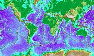 Global ocean circulation and deep sea temperatures map of world with different colors indicating ocean temperatures gumiabroncs Images