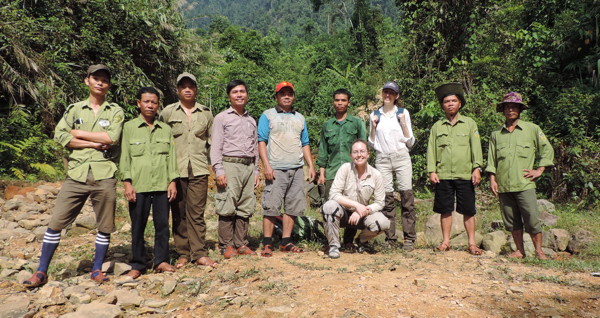 Dr. Mary Blair with protected area staff in Vietnam