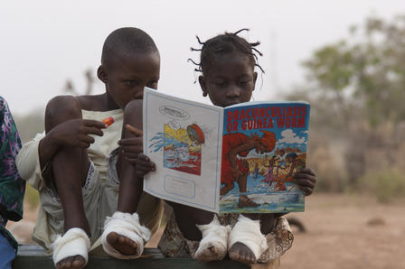 An educational comic book captures the attention