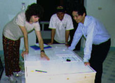 In November 1998, Meg Domroese, CBC Program Officer for Environmental Education, visited Bach Ma National Park to exchange ideas with the staff on the design of interactive displays for biodiversity education.