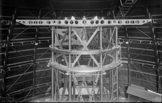 Interferometer mounted atop the Mt. Wilson 100-inch telescope © The Huntington Library, San Marino, California