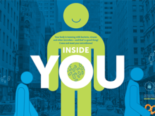 "Three human-shaped icons in front of a background image of a city, with an overlay of text reading ""Inside You""."
