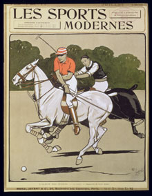 Cover of 'Les Sports Modernes' Magazine, July 1905. The Bridgeman Art Library