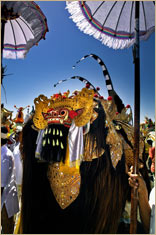 Barong Dragon, Karya Agung Ceremony, Bentuyung, Bali © Riser/Getty Images