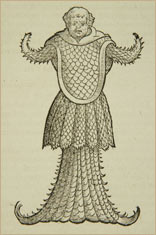 """Sea monk,"" from a 1575 book by Swiss naturalist Konrad Gesner. American Museum of Natural History Library RF-29-E"
