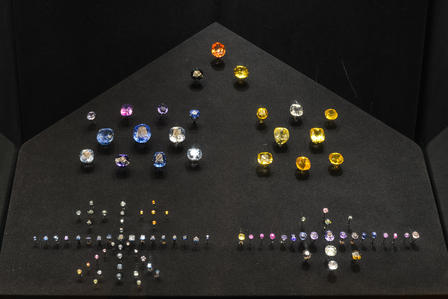 Sapphires in the Morgan Memorial Hall of Gems  AMNH/D.Finnin