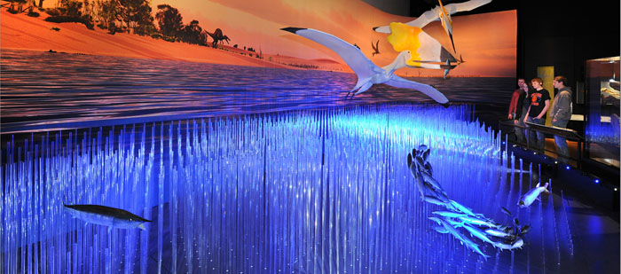 Araripe Basin Diorama in Pterosaurs Exhibit 700 309
