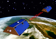 The GRACE mission uses a pair of satellites to measure Earth's gravitational field. AMNH