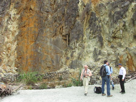 Harlow, Webster, and colleagues investigate the geology of Mogok.  Image Credit: J. Newman