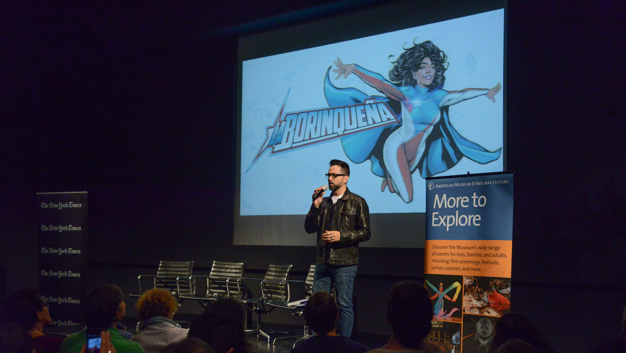 Edgardo Miranda-Rodriguez—creator of La Borinqueña—discussed the roles humor, activism, and ethnographic research play in writing a graphic novel.