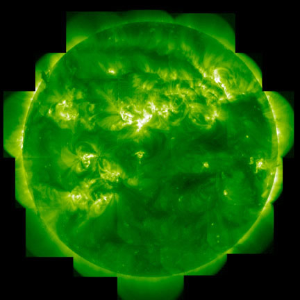 In the Light of IronThe Sun observed from space in the light of ionized iron (Fe XII) at 1.7 million °C(3 million °F).