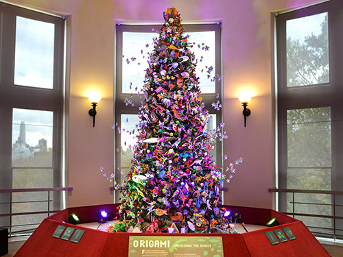 Senses Themed Origami Holiday Tree Goes On View