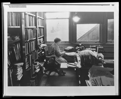 Margaret Mead at her desk