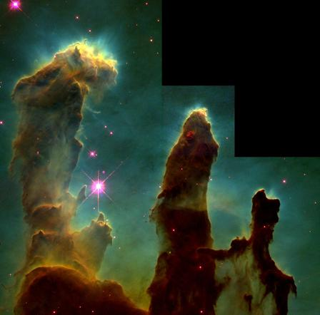 The so-called Pillars of Creation are one of the most iconic images Hubble has captured.  ©NASA/ESA