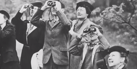Birdwatchers in Central Park (historical)