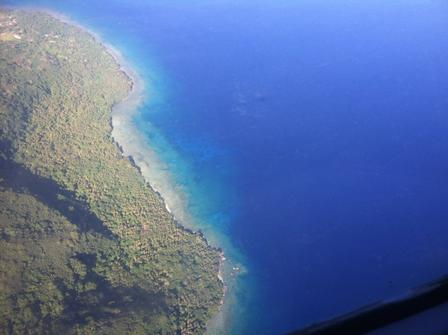 This photo was taken out the window of the plane while flying from Vila to Malakula © AMNH/B. Smith