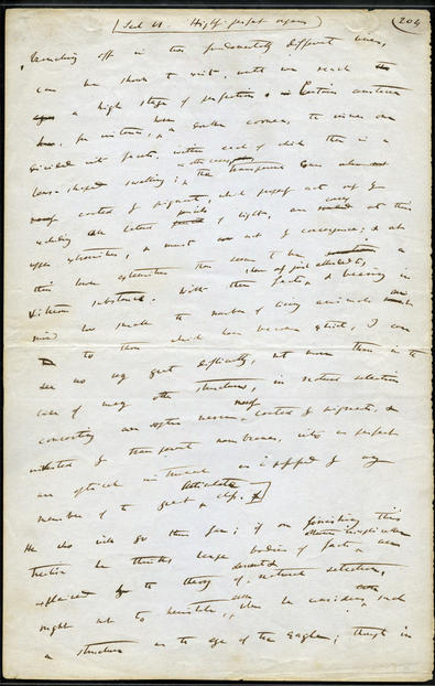 The Museum houses one of 36 known leaves of the original manuscript of Darwin's On the Origin of Species. AMNH Library Rare Books Collection, RF-18-H