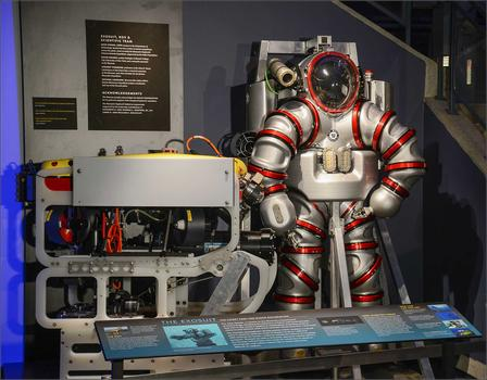 Exosuit in Milstein Hall of Ocean Life
