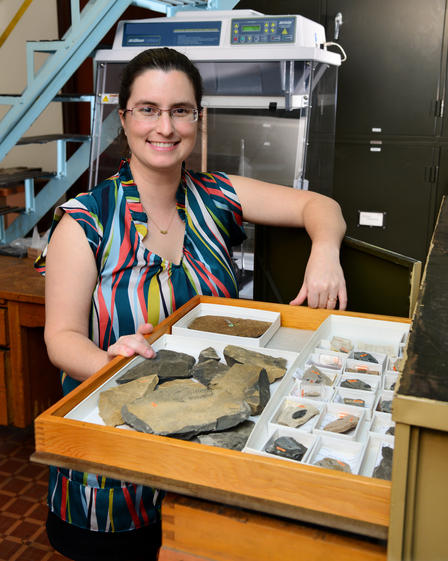Melanie Hopkins is an assistant curator in the Division of Paleontology.  ©AMNH/D.Finnin