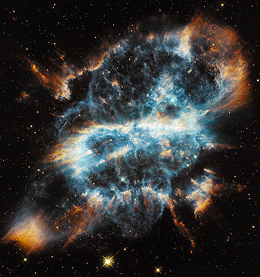 Taken by the Hubble Space Telescope, an image of planetary nebula NGC 5189 NASA, ESA, and the Hubble Heritage Team (STScI/AURA)