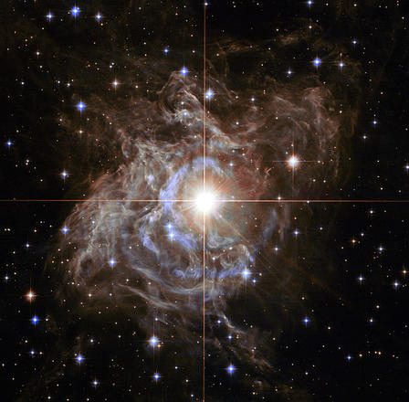 The Cepheid variable star RS Puppis, in an image captured by the Hubble Space Telescope, is one of the brightest in the Milky Way Galaxy. © NASA