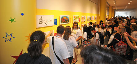 On May 22, 2013, winners of the 2013 Doodle 4 Google contest came to the Museum for a special ceremony.  © AMNH/D. Finnin