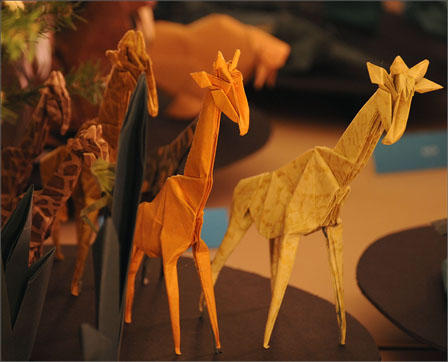 Tower of Giraffes Origami Tree 2012