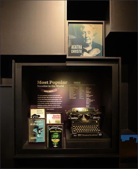 At least 28 of Agatha Christie's 66 mystery novels feature poisonings. Her work is featured in The Power of Poison, now open.  © AMNH/R. Mickens