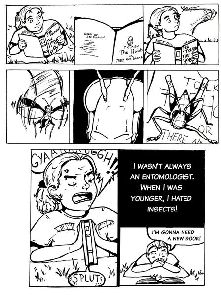 Carly Tribull How I Became an Entomologist OLogy Comic