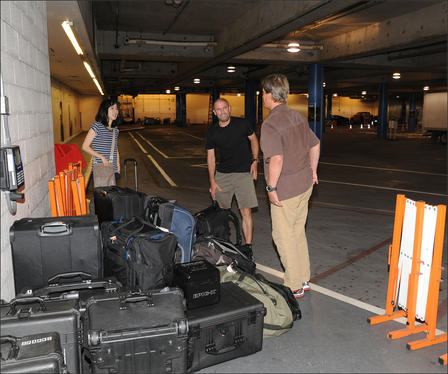 Explore 21 Team with Luggage in Parking Garage 2013