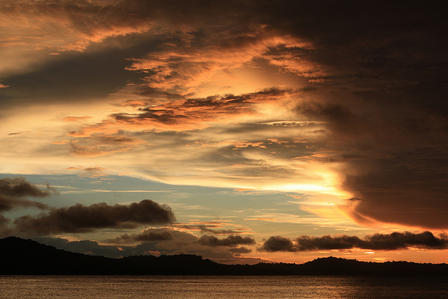Sunset in the Solomon Islands, 2012 © AMNH/M. Esbach