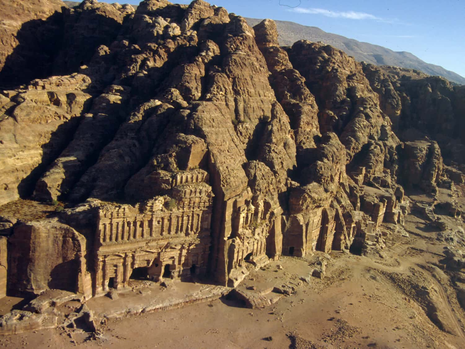 Royal Tombs carved into the cliffs