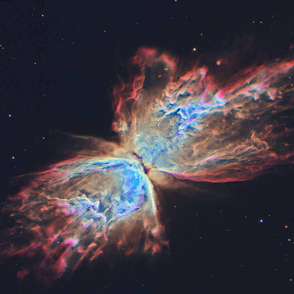 The butterfly nebula, a nebula shaped as the insect.