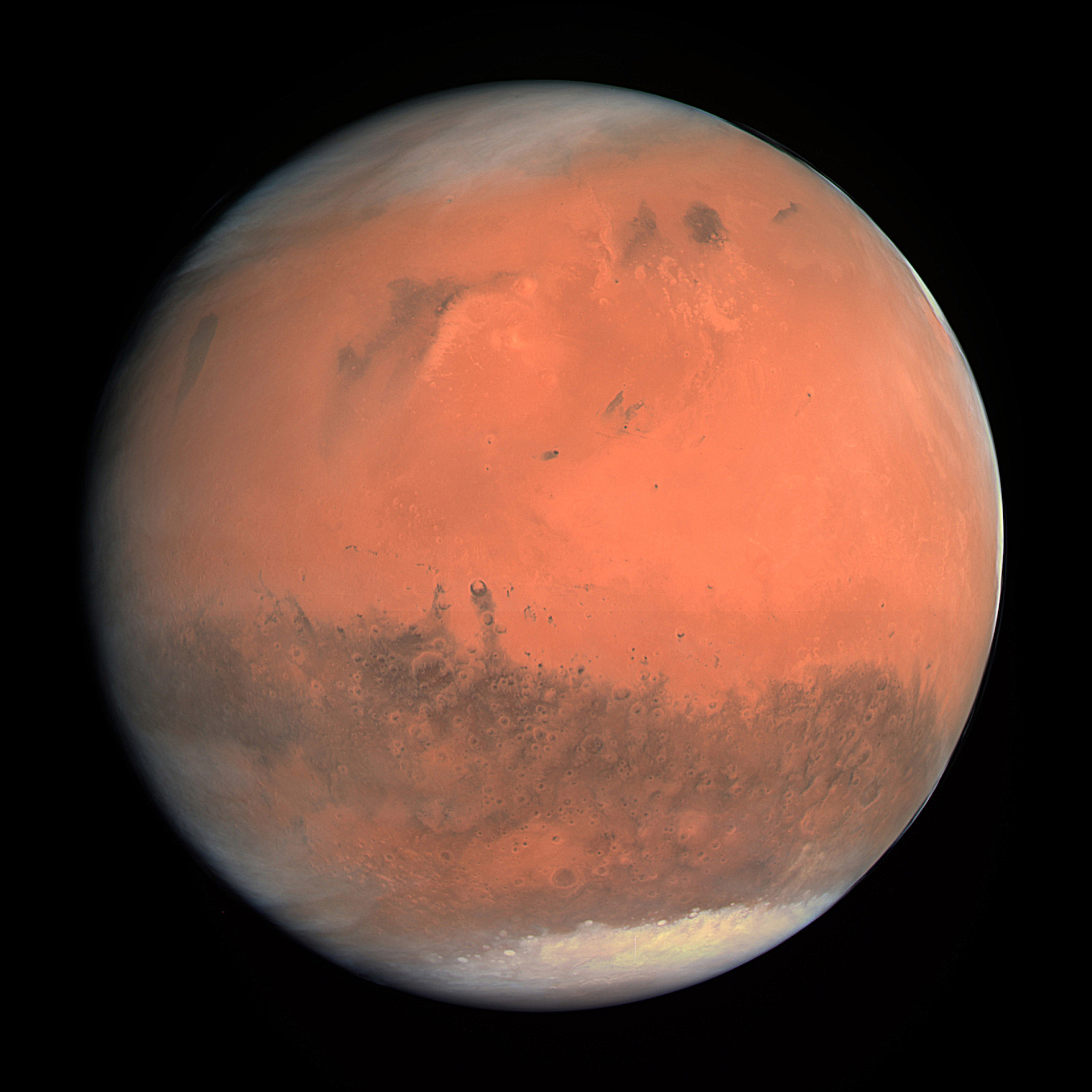True-colour image of Mars seen by OSIRIS