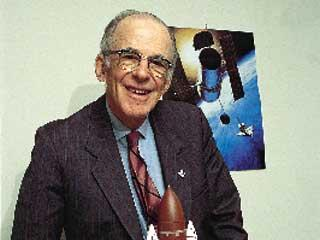 Lyman Spitzer (1914-1997), American astronomer and father of the Space Telescope. Photo courtesy of Princeton University.