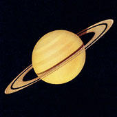 A bright image of Saturn.
