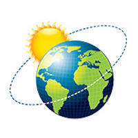 Cartoon illustration of Sun orbiting the Earth