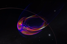 visualization of sun interacting with earth's magnetosphere